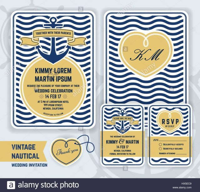 Nautical Wedding Invitation Template Vintage Nautical Anchor Wedding Invitation Template Design Include