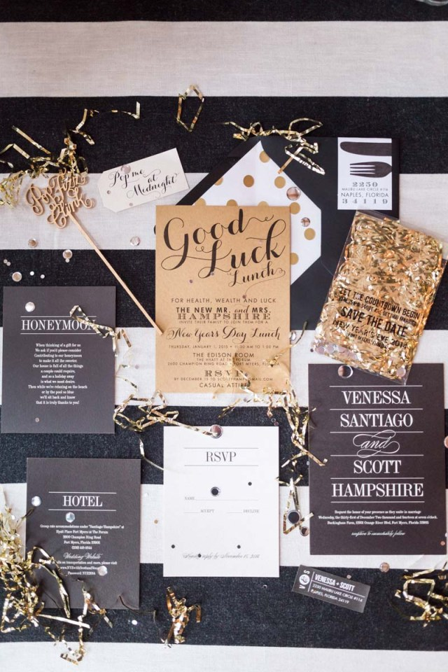 New Years Eve Wedding Invitations A Glam New Years Eve Wedding At Buckingham Farms In Fort Myers Fl