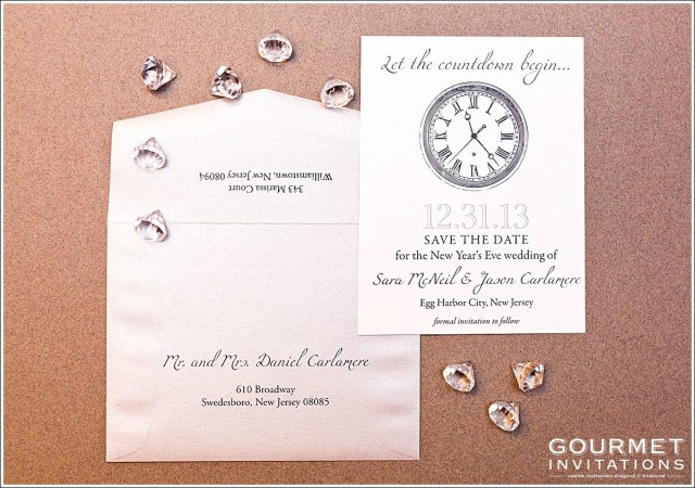 New Years Eve Wedding Invitations New Years Eve Wedding Save The Date Gourmet Invitations