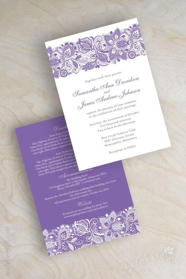 Orchid Wedding Invitations Elegant Lavender And White Lace Wedding Invitations Lilac Orchid