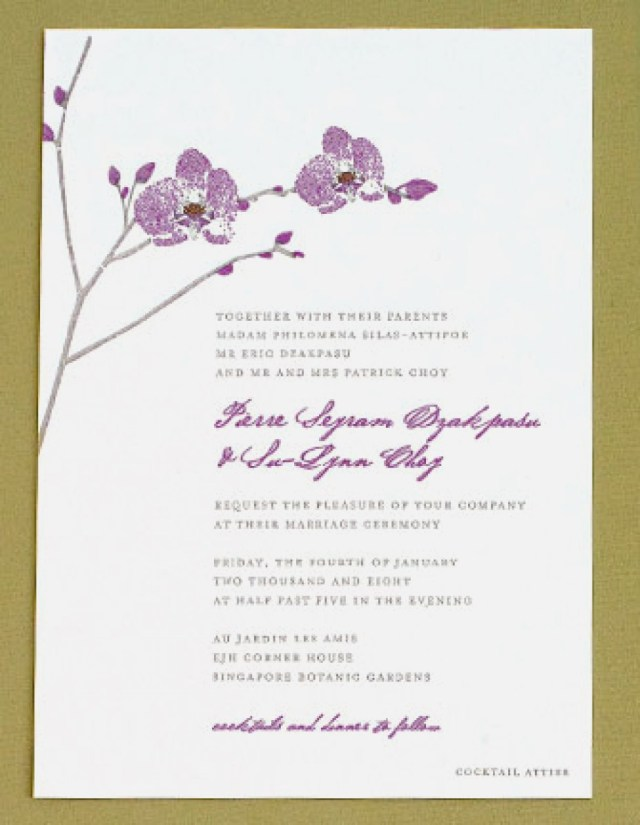 Orchid Wedding Invitations Orchid Wedding Invitations Lovely Orchid Wedding Invitations