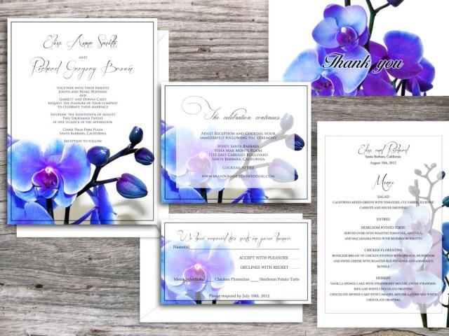 Orchid Wedding Invitations Printable Wedding Invitation Invitations Pinterest Wedding