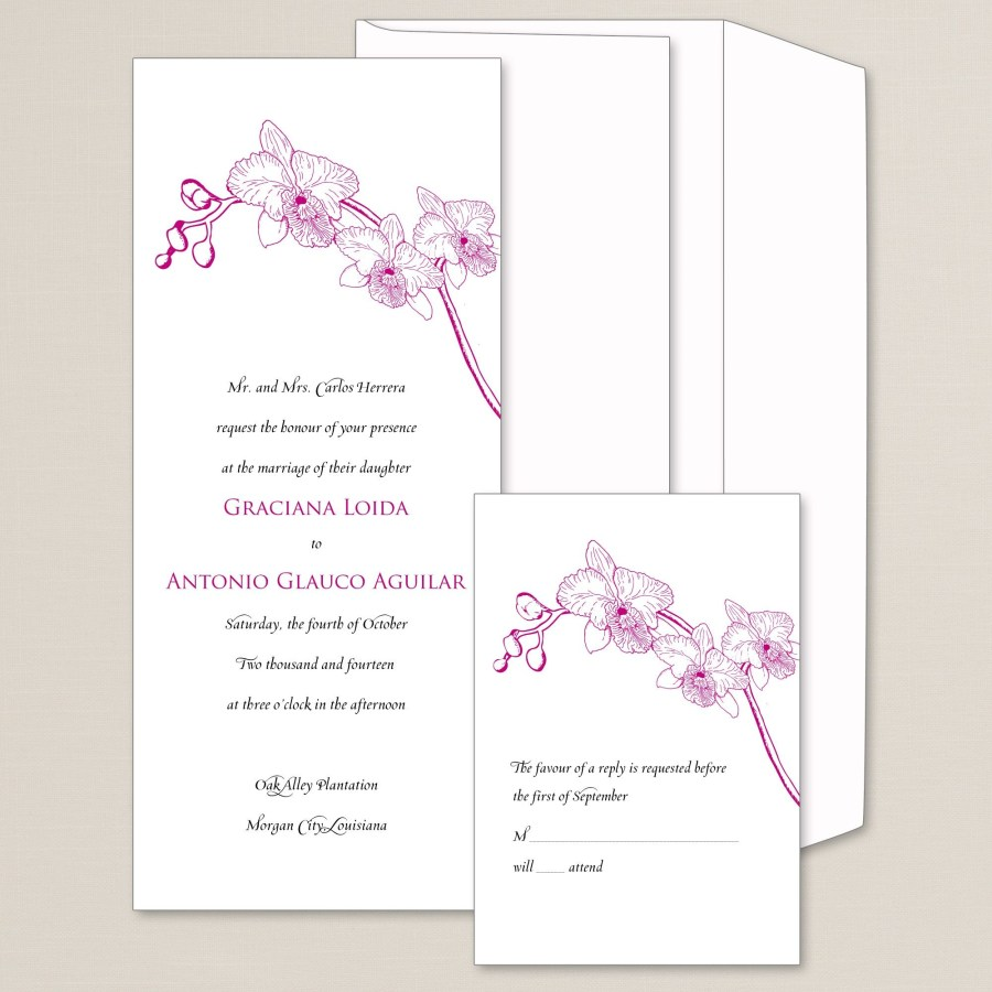 Orchid Wedding Invitations Simply Orchid Wedding Invitation Exclusivelyweddings