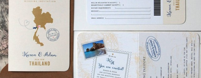 Passport Wedding Invitations All About Travel Passport Wedding Invitation And Rsvp Ditsy Chic