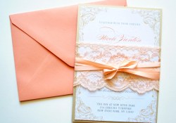 Peach Invitations Wedding Peach Lace Wedding Invitations Rustic Lace Whimsybdesigns 695