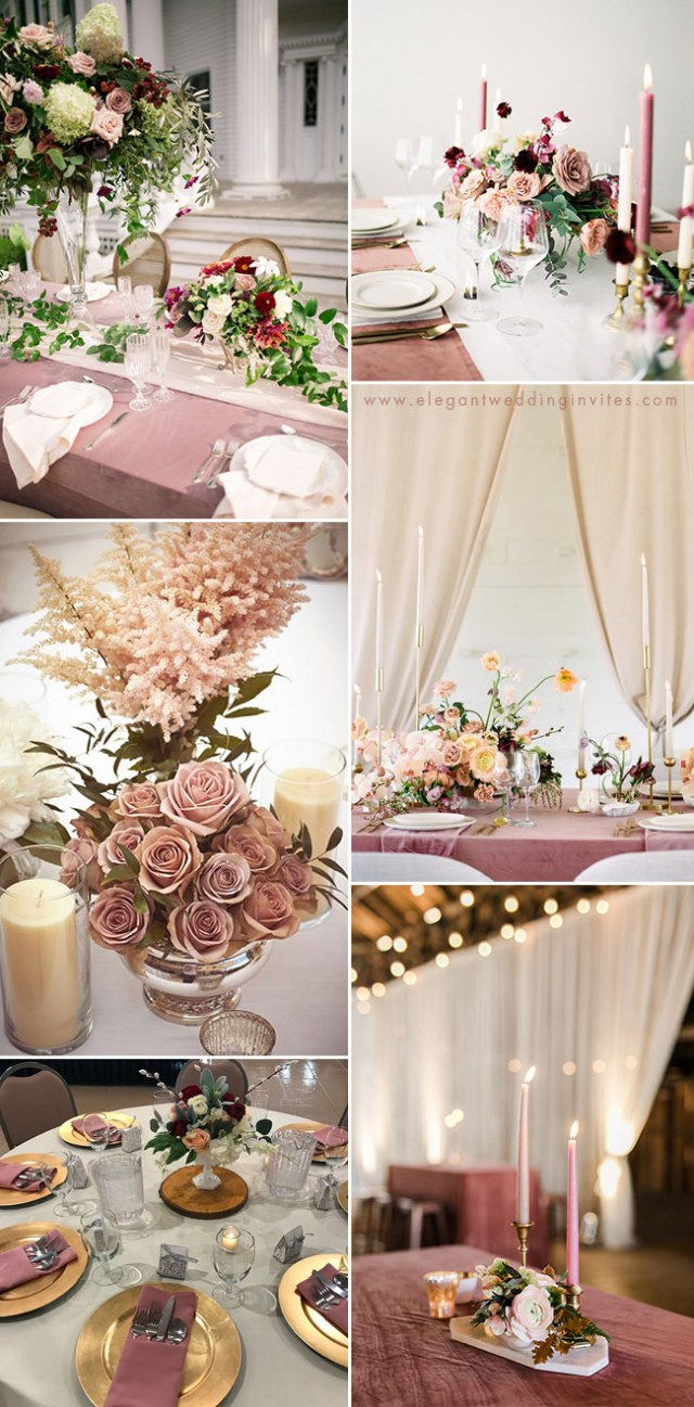 Pink Wedding Decorations 35 Trendy Romantic All Time Dusty Rose Wedding Ideas