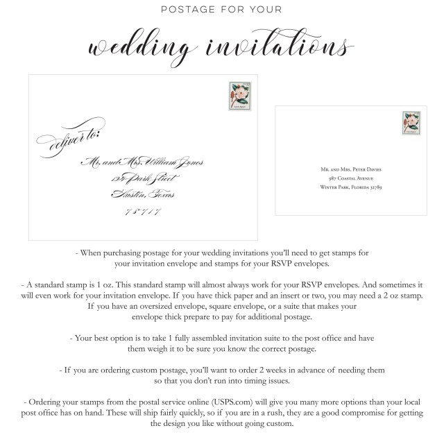 Postage For Wedding Invitations Blush Paperie Postage For Your Wedding Invitations