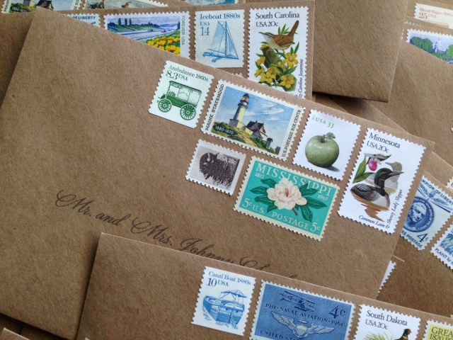 30 Inspired Image Of Postage Stamps For Wedding Invitations