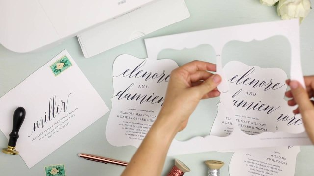 Print At Home Wedding Invitations How To Print Your Own Wedding Invitations At Home With Everly Card