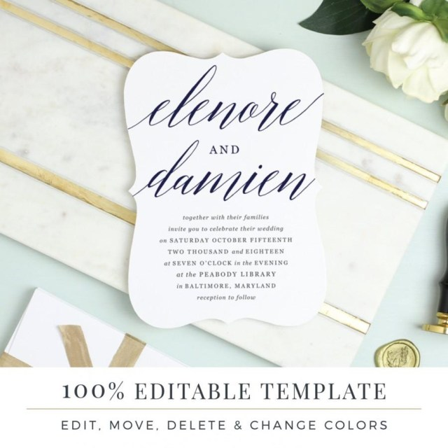 Printable Wedding Invitations Templates Einladung Printable Wedding Invitation Template 2640746 Weddbook