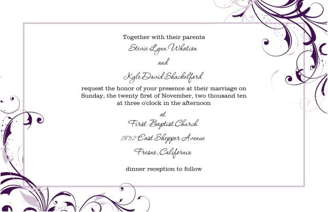Printable Wedding Invitations Templates Free Printable Wedding Invitation Templates For Word Elegant Free