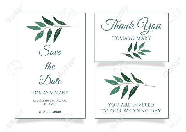 Printable Wedding Invitations Templates Rustic Wedding Invitation Template With Little Green Leaf Printable