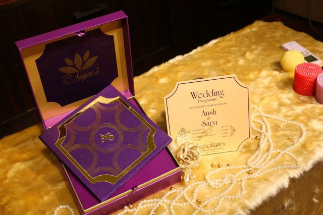 Purple And Gold Wedding Invitations Designer Wedding Invitations Vwi The Iconic Mark