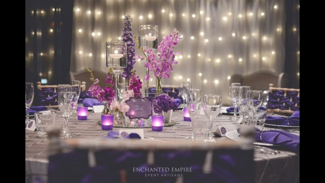 Purple And Silver Wedding Decorations Purple Silver Wedding Styled Enchanted Empire Event Artisans