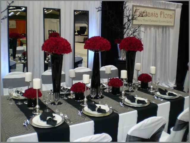 Red And Black Wedding Decorations Amazing Wedding Decoration Ideas Red And Black Set Home Design Ideas