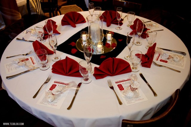 Red And Black Wedding Decorations Red And Black Table Settings View In Gallery Vire Themed Black