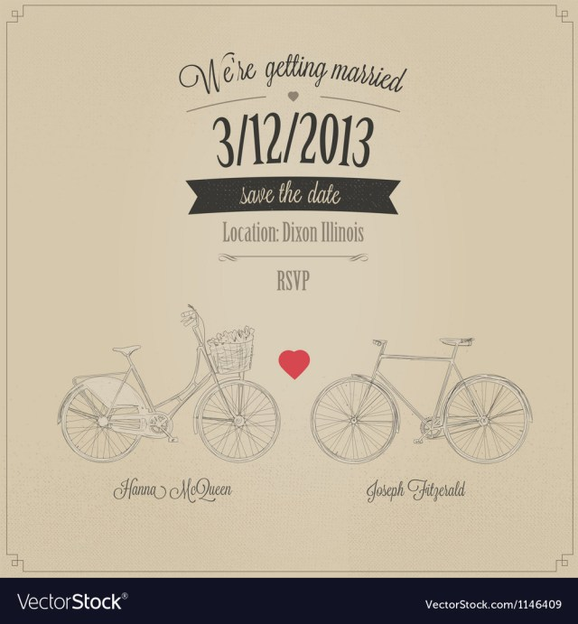 Retro Wedding Invitations Funny Grunge Retro Wedding Invitation Royalty Free Vector