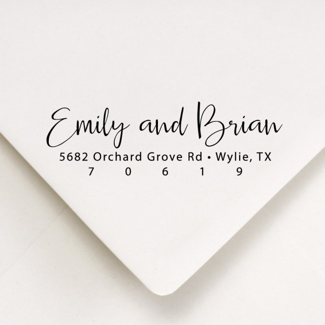 Return Address For Wedding Invitations Address Stamp Wedding Invitations Personalized Womens Gift Etsy