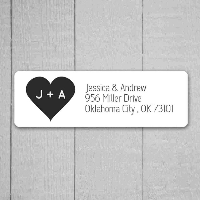 Return Address For Wedding Invitations Incrhpublicidecom Labels Stickersrhetsycom Invitati Return Address