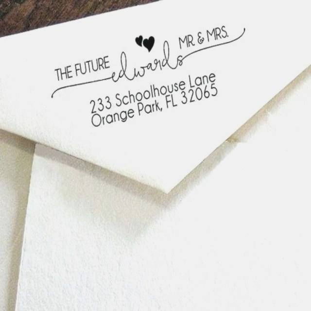 Return Address For Wedding Invitations Return Address On Wedding Invitations Custom Print Clear Address For