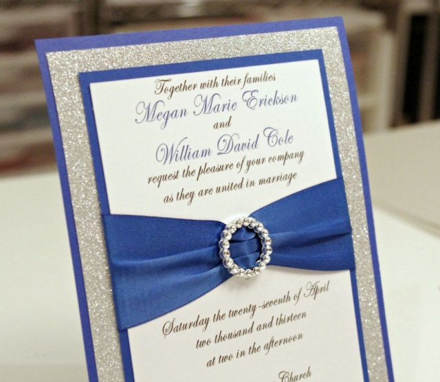 Royal Blue And Silver Wedding Invitations Royal Blue And Silver Wedding Invitations Wedding Pinterest