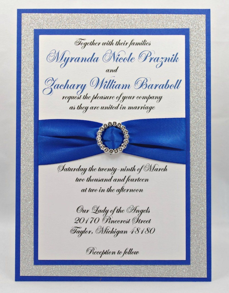 32 Inspiration Image Of Royal Blue And Silver Wedding Invitations