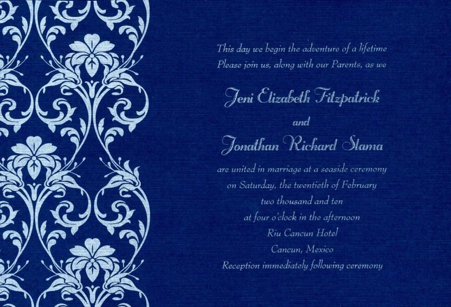 Royal Blue Wedding Invitations Royal Blue Wedding Invitations Marina Gallery Fine Art