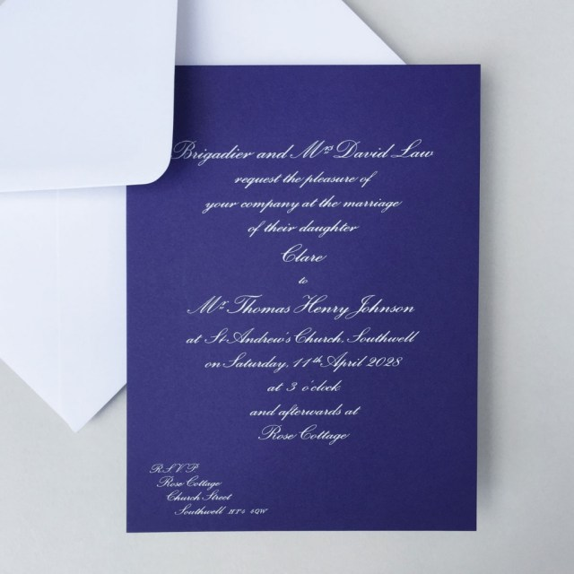 Royal Blue Wedding Invitations Royal Blue Wedding Invitations Wedding Stationery Wedding