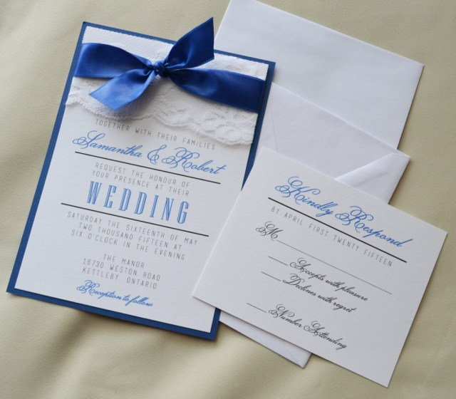 Royal Blue Wedding Invitations Sample Magnolia Wreath And Monogram Wedding Invitation With