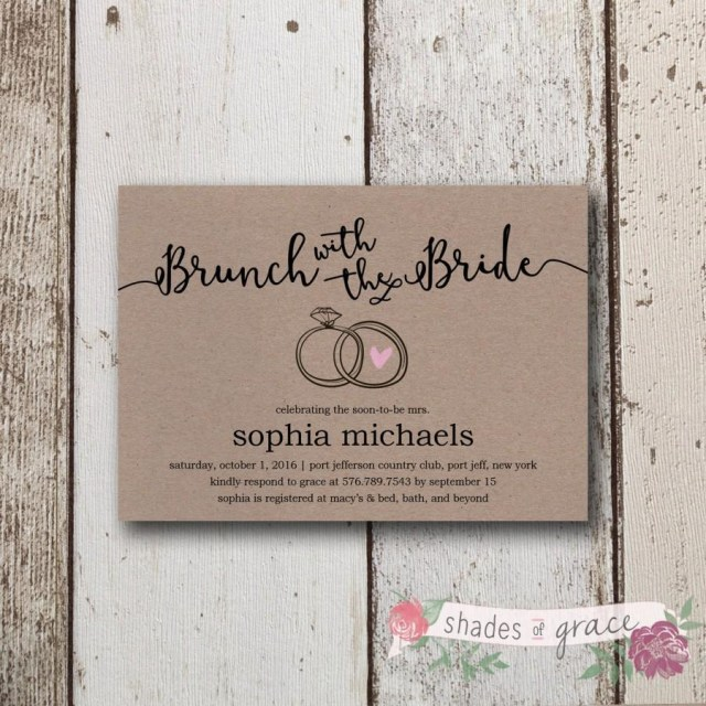 Rustic Wedding Shower Invitations Bridal Shower Invitation Instant Download Rustic Bridal Shower