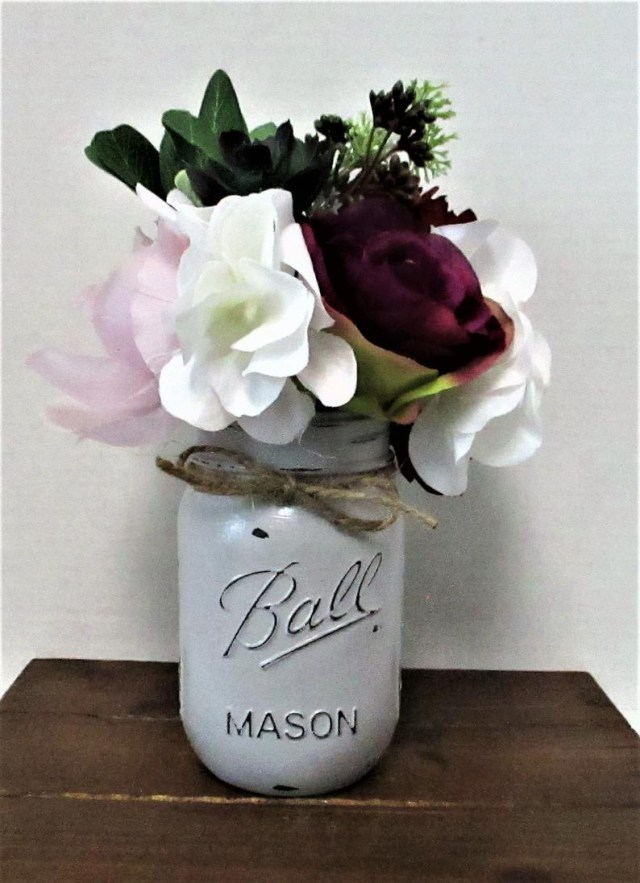 Shabby Chic Wedding Decorations Mason Jar Centerpiece Country Chic Shab Chic Wedding Etsy