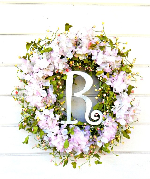 Shabby Chic Wedding Decorations Wedding Decor Weddings Wedding Wreath Hydrangea Wreath