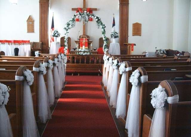 Simple Church Wedding Decorations Simple Church Wedding Decoration Ideas Decorations Youll Love