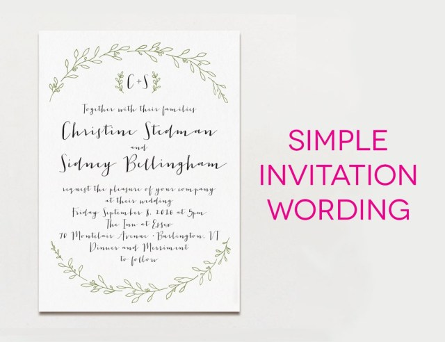 Simple Wedding Invitation Wedding Invitation Wording Formal Modern Fun Design