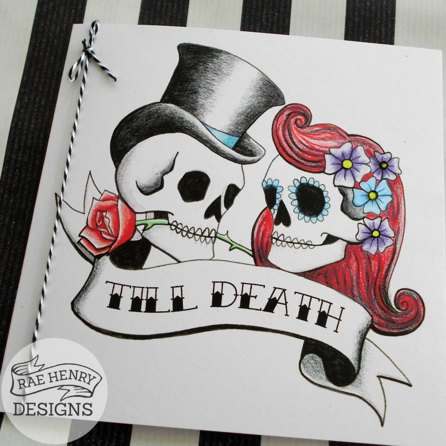 Skull Wedding Invitations 10 Tattoo Rockabilly Wedding Invitations Skulls Personalised