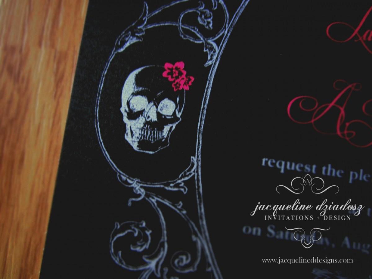 Skull Wedding Invitations Awesome Skull Wedding Invitations Jacqueline Dziadosz Design Lauren