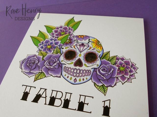 Skull Wedding Invitations Purple Sugar Skull Wedding Invitations Rae Henry Designs Black