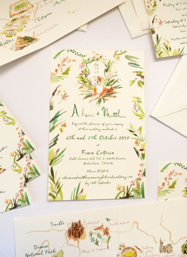 Spanish Wedding Invitations Akemi Matthew Jolly Edition Illustration And Stationery Made