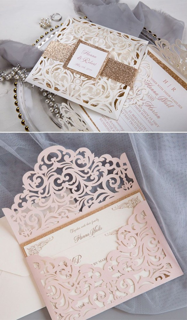 Sparkly Wedding Invitations Fall In Love With Glittery And Sparkly Wedding Invitations