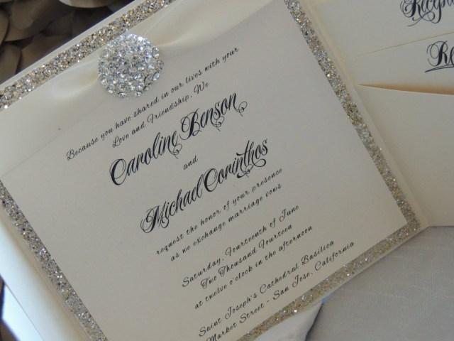 Sparkly Wedding Invitations Sparkly Wedding Invitations Sparkly Wedding Invitations With