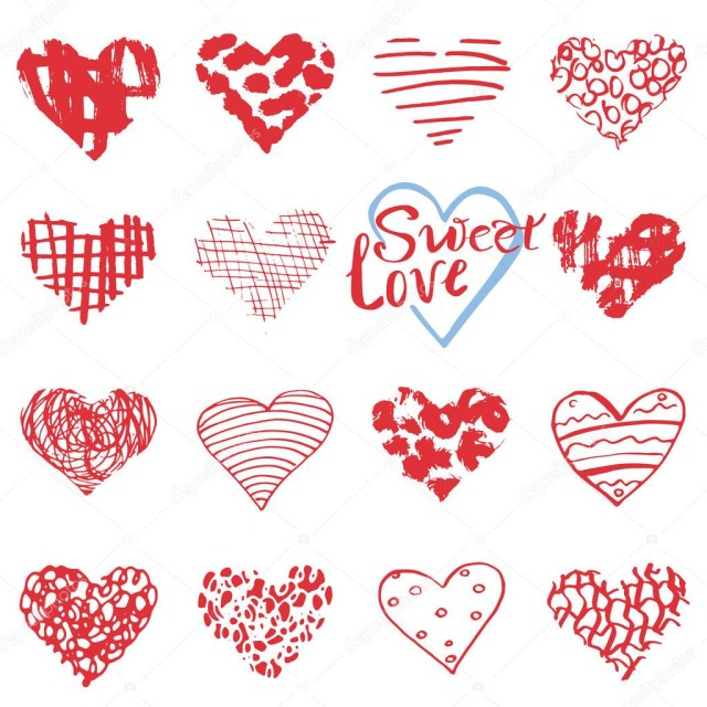 Symbols For Wedding Invitations Hand Drawn Hearts Symbols And Lettering For Valentines Day Sketched