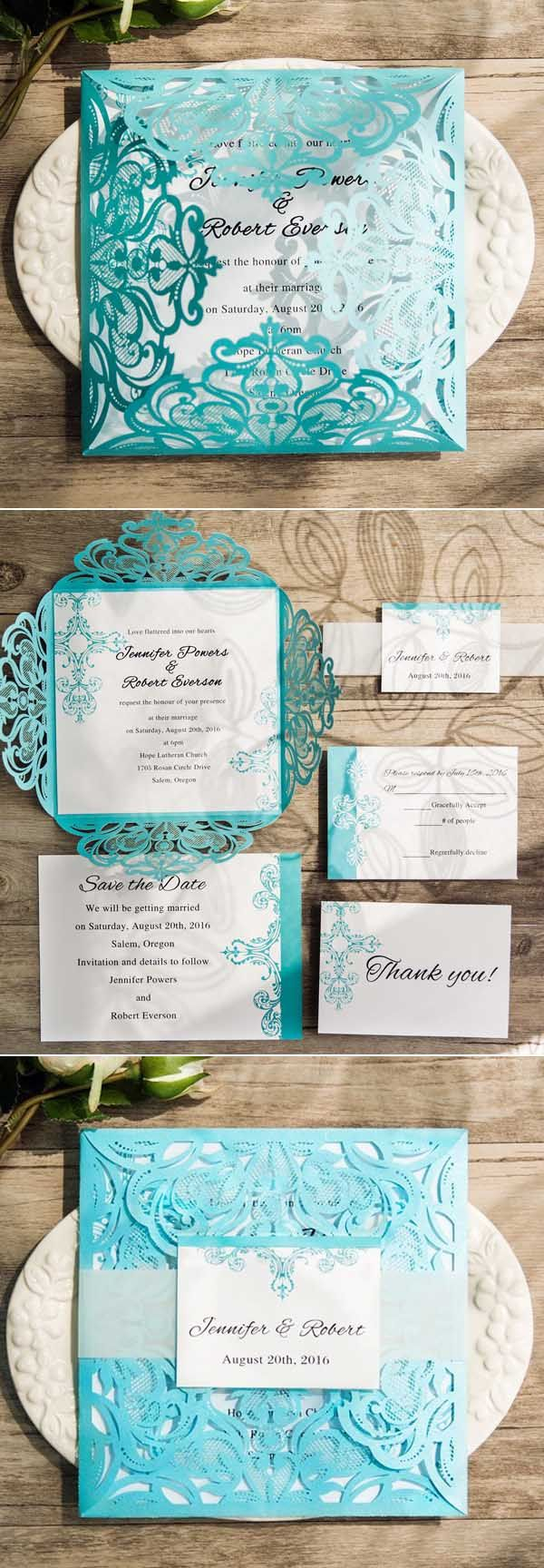 Teal Wedding Invitations Kits Awesome Ideas For Your Tiffany Blue Themed Wedding Prty Pl