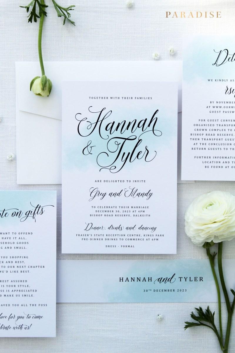 Teal Wedding Invitations Kits Odette Inspired The Sea Wedding Invitation Sets Invitation Kits