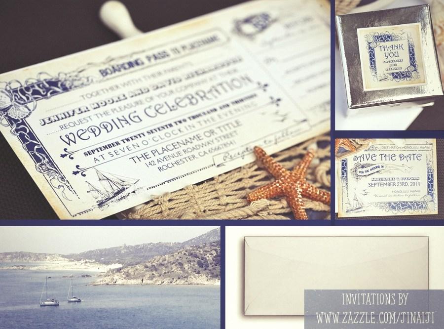 Ticket Wedding Invitations Nautical Boarding Pass Tickets Wedding Invitations Need Wedding Idea