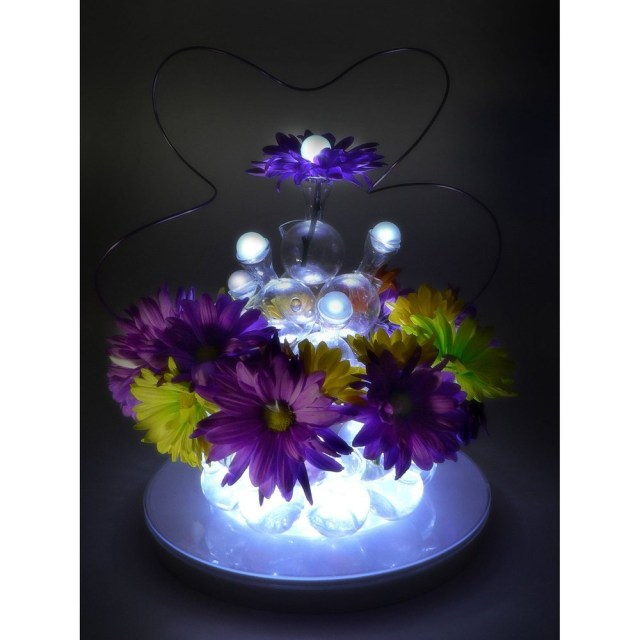 Tradesy Wedding Decor 12pcslot New Design Waterproof Floral Balloon Led Ball Lights Led