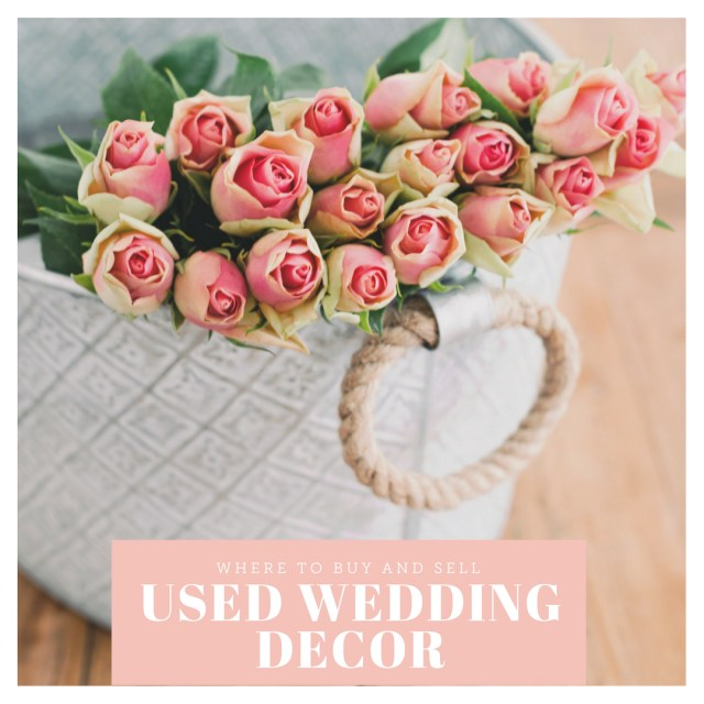 Tradesy Wedding Decor Where To Buy And Sell Used Wedding Decor Online
