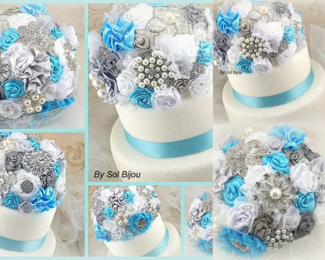Turquoise And White Wedding Decorations Il Fullxfull 585273707 Knp3 In Turquoise And White Wedding
