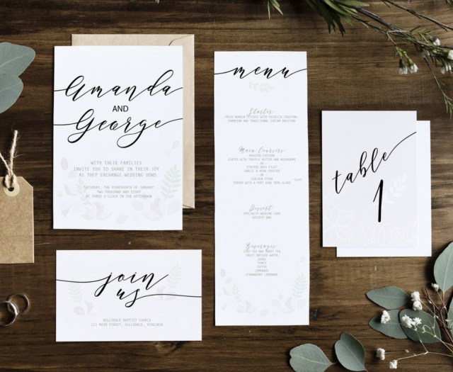 Typography Wedding Invitations Trending Wedding Invitation Fonts For 201819