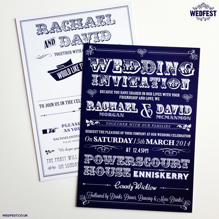 Typography Wedding Invitations Typography Wedding Invitations Wedfest