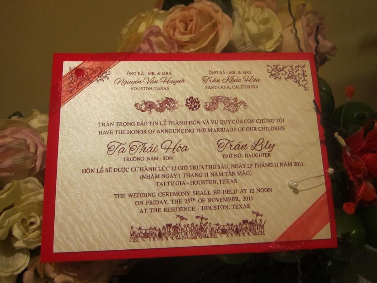 Vietnamese Wedding Invitations Vietnamese Invitation Wedding Pinterest Wedding Wedding